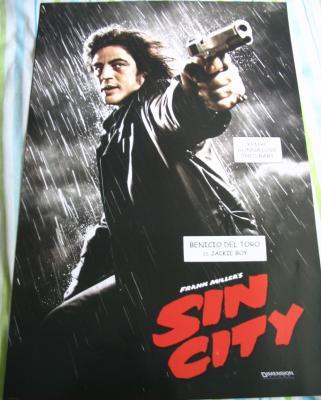 Sin City mini movie poster (Benicio Del Toro as Jackie Boy)