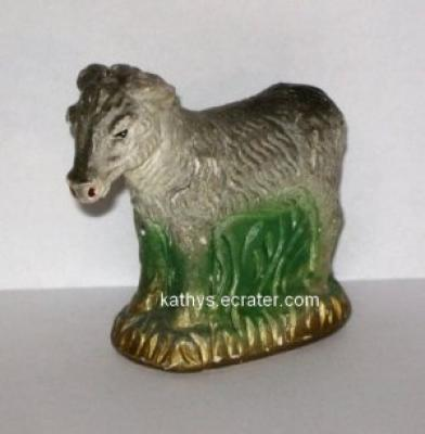 Chalkware Chalk Donkey Burrow Nativity Animal Figurine