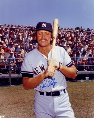 Ron Blomberg autographed New York Yankees 8x10 photo