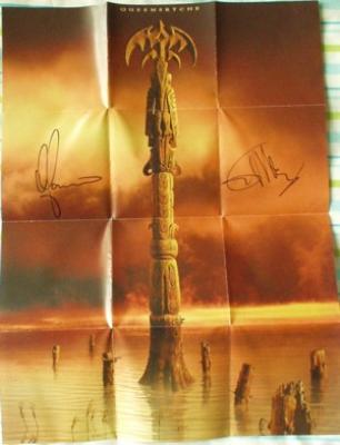Queensryche poster autographed by Chris DeGarmo & Geoff Tate