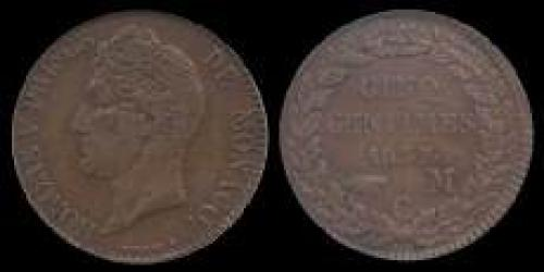 5 centimes 1837-1838 (km 95)