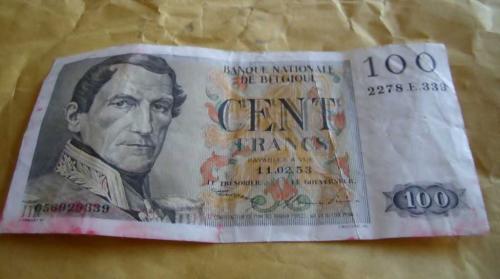 BELGIUM 3x100 franca 1953/1996 3 pcs banknotes