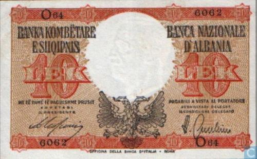 Albania 10 Lek ND(1940)