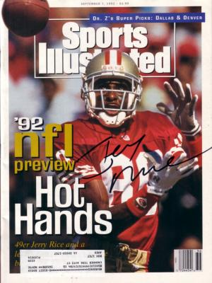 Jerry Rice autographed San Francisco 49ers 1992 Sports Illustrated