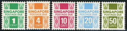 Postage due 5v; Year: 1978