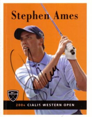 Stephen Ames autographed Nike golf card