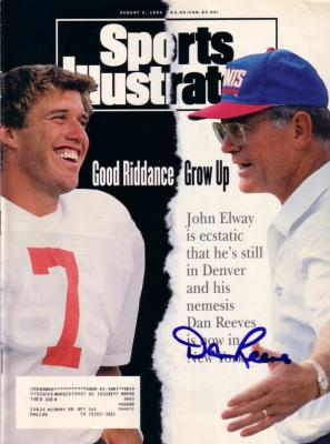 Dan Reeves autographed 1993 Sports Illustrated