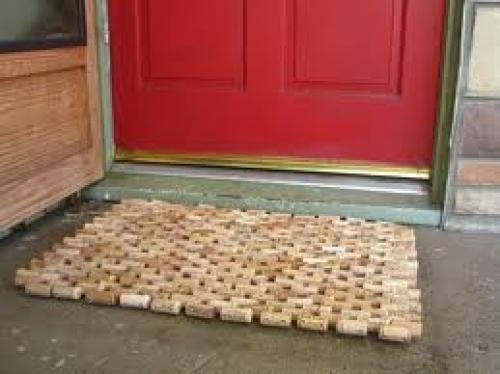 Crafts; Handmade cork door mat