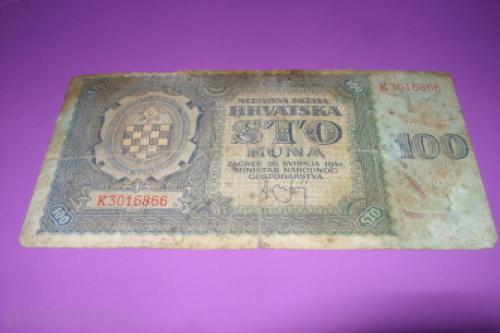 Croatia 100 Kuna 1941