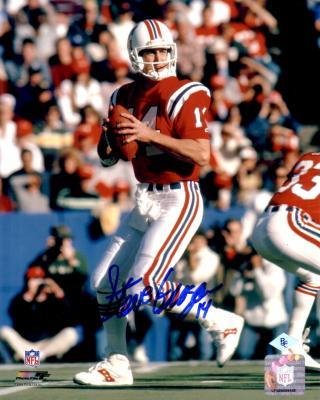 Steve Grogan autographed New England Patriots 8x10 photo