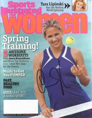 Anna Kournikova autographed Sports Illustrated for Women magazine