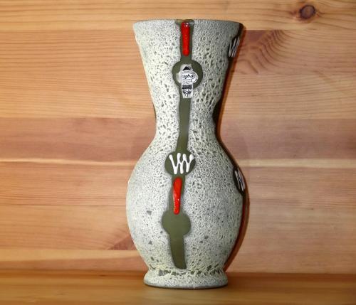 Jasba West German cantaloupe vase