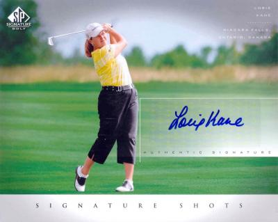 Lorie Kane LPGA certified autograph 2004 SP Signature 8x10 photo card