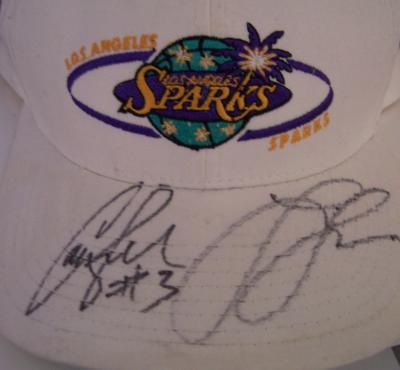 Lisa Leslie & Candace Parker autographed WNBA Los Angeles Sparks cap