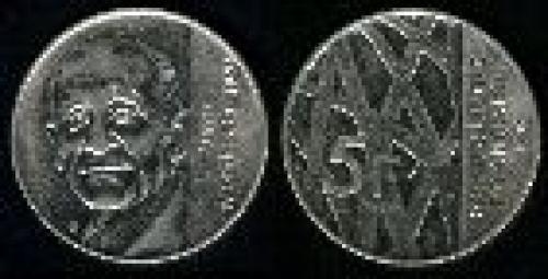 5 francs; Year: 1992; (km 1006); Pierre Mendes-France