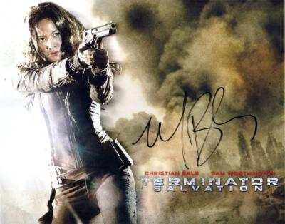 Moon Bloodgood autographed Terminator Salvation 8x10 photo