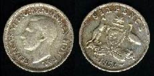 6 pence; Year: 1950-1952; (km 45)