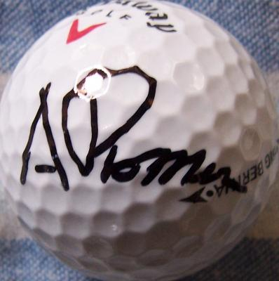 Andres Romero autographed golf ball