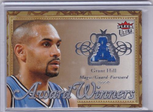 2007 - 08 FLEER ULTRA AWARD WINNERS GAME JERSEY SERIAL #/199 GRANT HILL