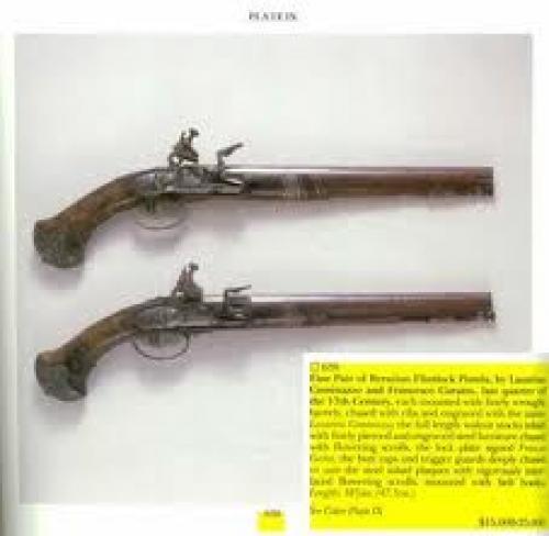 Cominazzo Lazarino; Rare Antique Pistol
