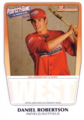 Daniel Robertson 2011 Perfect Game Topps Bowman Rookie Card (AFLAC)