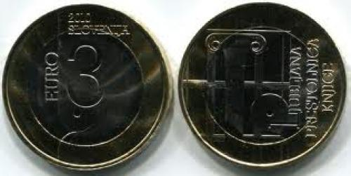Coins; Slovenia regularly issues circulating bi-metallic 3 Euro commemorative coins