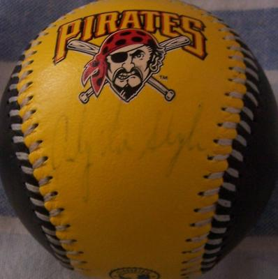 Andy Van Slyke autographed Pittsburgh Pirates logo leather baseball