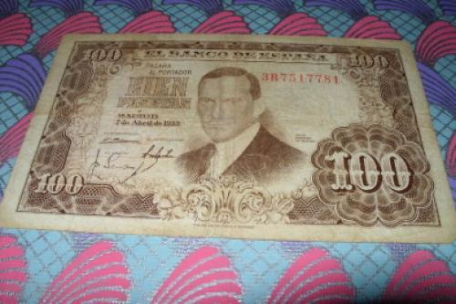 Spain -100 pesetas-1953