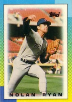 Nolan Ryan Texas Rangers 1990 Topps Mini League Leaders card