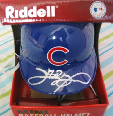 Sammy Sosa autographed Chicago Cubs mini helmet