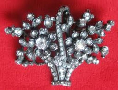 Antique Rose Diamond Pin/Pendant Circa.