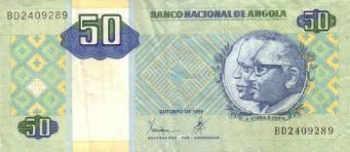 Banknote : Angola. Angola : 50 Kwanaza, 1999