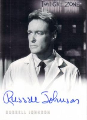 Russell Johnson certified autograph Twilight Zone card