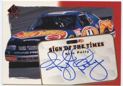 Kyle Petty (NASCAR) certified autograph 1998 SP Authentic card #8/240