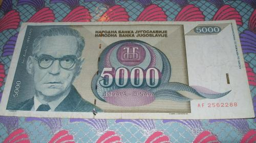 Yugoslavia 3X 5000 DINARA 1985/1992/1994 3 pcs banknotes