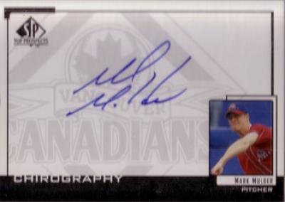 Mark Mulder certified autograph SP Top Prospects card
