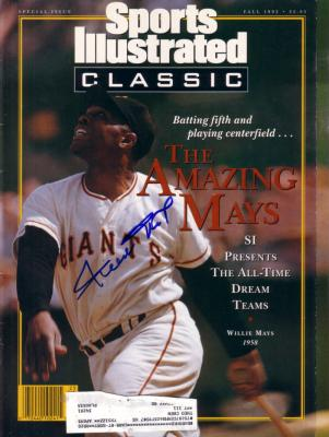 Willie Mays autographed Giants 1992 Sports Illustrated Classic magazine