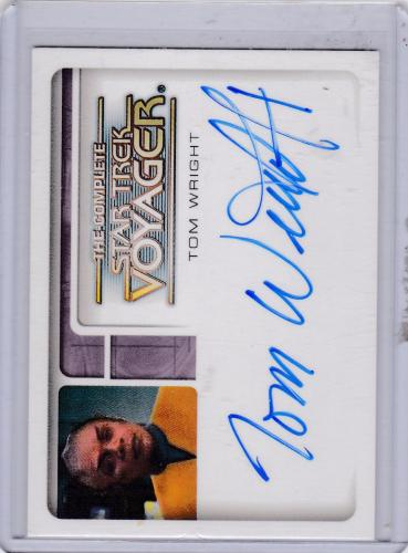 THECOMPLETE STAR TREK VOYAGER TOM WRIGHT TUVIX AUTOGRAPH