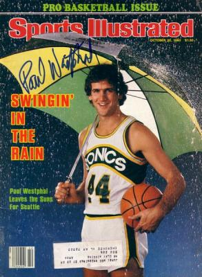 Paul Westphal autographed Seattle Supersonics 1980 Sports Illustrated