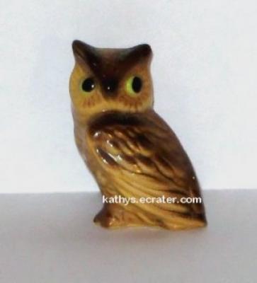 Hagen Renaker Mama Horned Owl #155 Bird Figurine