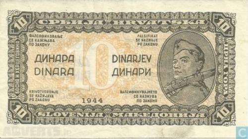 Yugoslavia 10 Dinara-1944
