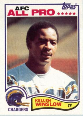 Kellen Winslow San Diego Chargers 1982 Topps second year card