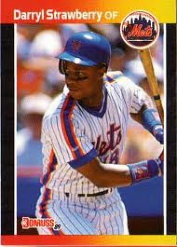 Baseball Card; NEW YORK  METS - Darryl Strawberry #147 DONRUSS