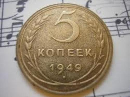 Coins; Vintage USSR SOVIET RUSSIA COINS 5 kopeek 1949