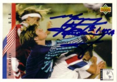 Mary Harvey autographed US Soccer 1994 Upper Deck Rookie Card