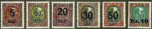 Overprints 6v; Year: 1921