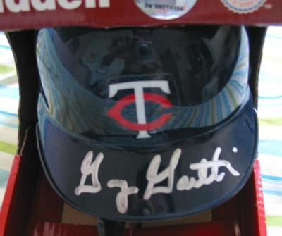 Gary Gaetti autographed Minnesota Twins mini helmet
