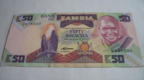 ZAMBIA. 50 kwacha. 1986 - 1988