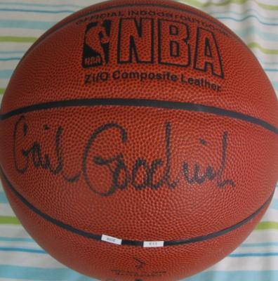 Gail Goodrich autographed NBA indoor/outdoor basketball