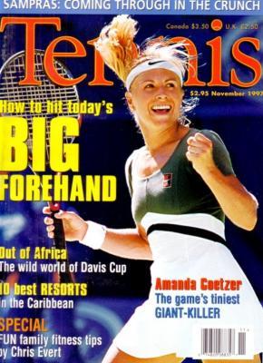 Amanda Coetzer 1997 Tennis magazine MINT